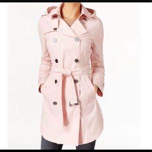 Michael Kors Hooded Double-breasted Raincoat